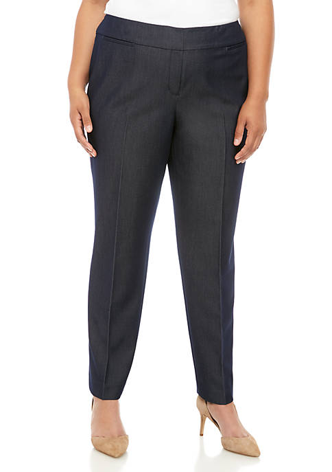 Plus Size Straight Denim Pants