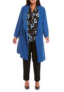 Nine West Plus Size Soft Crepe Duster Jacket