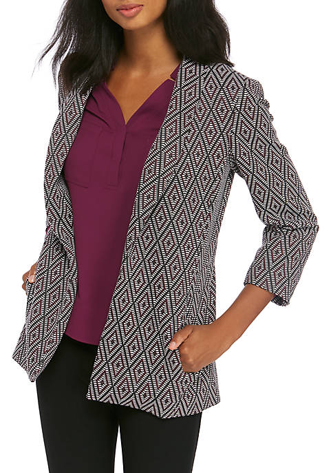 Womens Textured Knit Topper