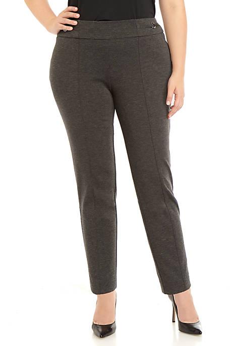 Nine West Plus Size Pull On Ponte Pants