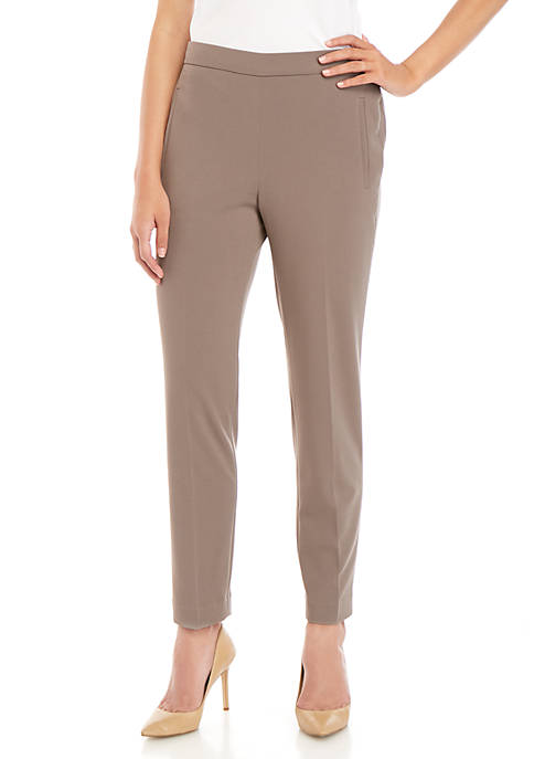 Nine West Pull On Crepe Pants
