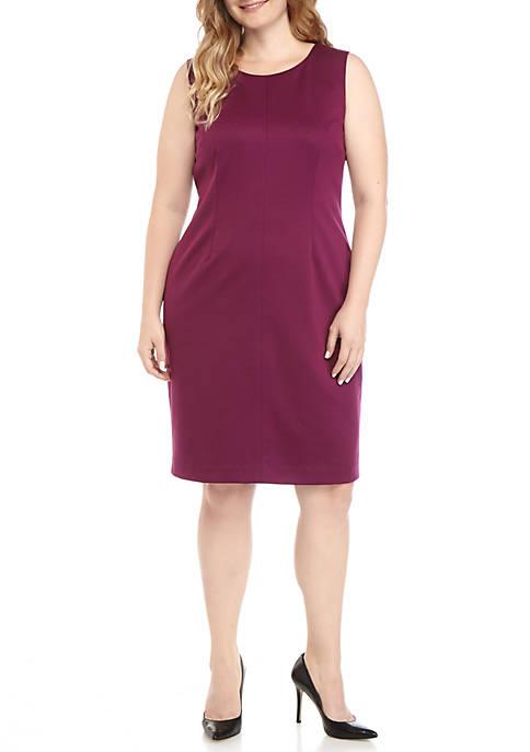 Nine West Plus Size Ponte Sheath Dress