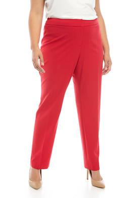 Plus Size Solid Pants