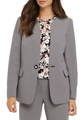 Womens One Button Collar Jacket