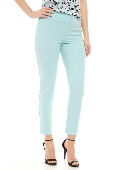 Womens Crepe Slim Pants