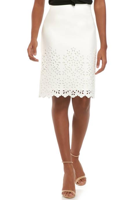 Womens Laser Cut Suit Skirt