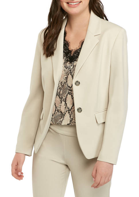 Womens 2 Button Crepe Jacket