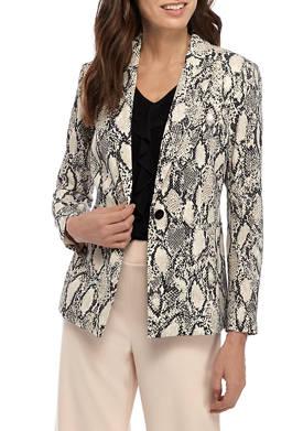 Womens Snake Print Jacket