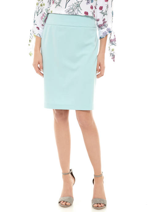 Womens Crepe Slim Skirt