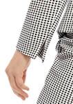 Womens Gingham Jacquard Jacket