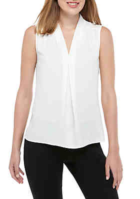 183ccc799a3a Nine West Sleeveless V Neck Blouse ...