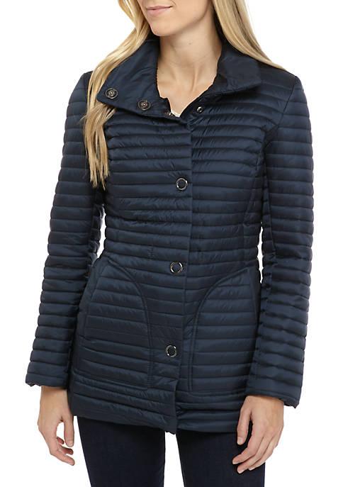 6061167e884 Anne Klein. Anne Klein Chenille Stand Collar Puffer Coat