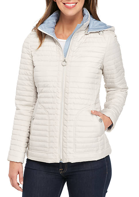 Anne Klein 2-Toned Quilted Jacket