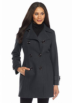 AK Anne Klein Double Breasted Peacoat