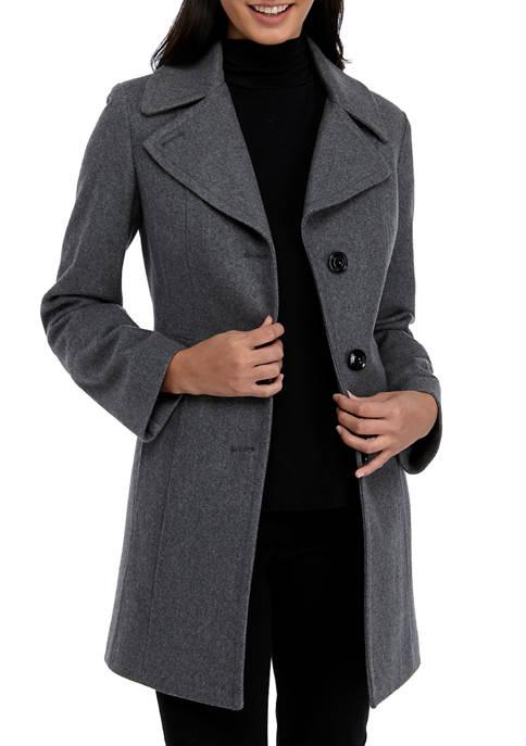 Anne Klein Womens Single Breasted Wool Jacket