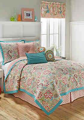 waverly wild card quilt collection - Turquoise Bedding