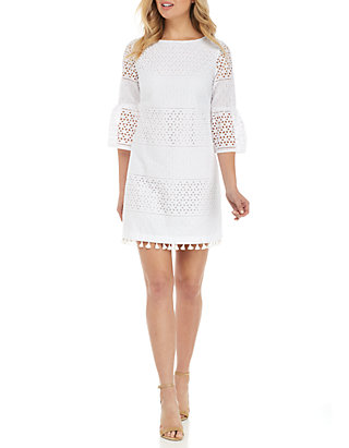 fff74f8d6be Vince Camuto. Vince Camuto Eyelet Bell-Sleeve Shift Dress