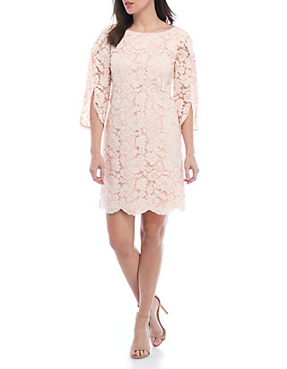 12edbde87761 Vince Camuto. Vince Camuto Allover Lace Shift Dress With Overlap Sleeves