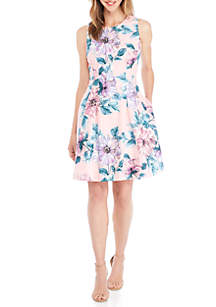 Sleeveless Printed Floral Dress