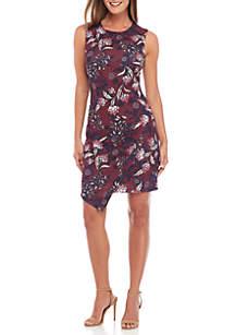 Sleeveless Bodycon Asymmetrical Hem Dress
