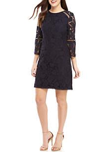 e1b27ac2 ... Vince Camuto 3/4 Sleeve Lace T-Body Dress