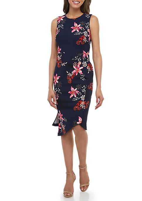 Sleeveless Asymmetric Hem Dress