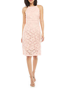 c1b1f9a172 ... Vince Camuto Halter Lace Bodycon Dress