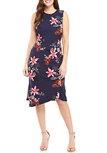 eb937250e7 New Directions® Striped Split Neck Dress · Vince Camuto Sleeveless Floral  Sheath Dress