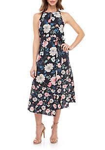 Vince Camuto Halter Floral Midi Dress