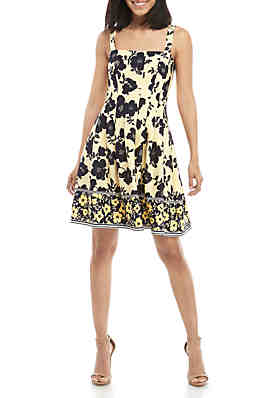 e599ad36039 Vince Camuto Pleated Fit and Flare Dress ...