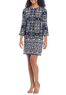7ccba9b998c Vince Camuto Ruffle Sleeve Chiffon Keyhole Dress · Vince Camuto 3 4 Sleeve  Printed Shift Dress