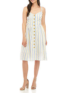 Vince Camuto Sleeveless Stripe Midi Dress