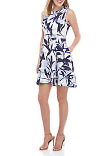 ecf03613957 Vince Camuto Short Sleeve Twin Print Sheath Dress · Vince Camuto Sleeveless  Printed Fit and Flare Dress