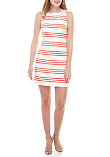 9b212a68b17 ... Vince Camuto Sleeveless Striped Shift Dress