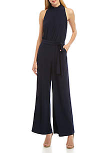 Vince Camuto Halter Ruffle Neck Jumpsuit