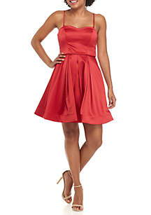 Spaghtetti Strap Fit-And-Flare Dress