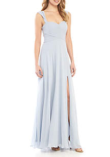 sequin hearts Off the Shoulder Chiffon Gown