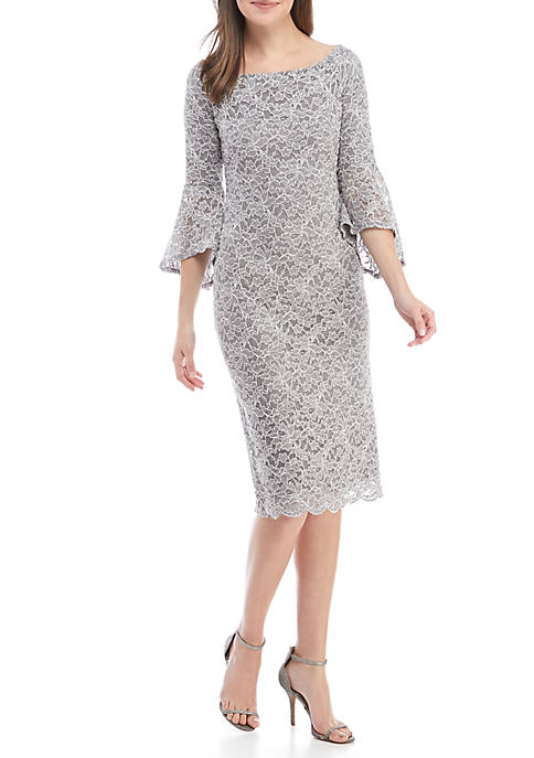Ronni Nicole Bell Sleeve Sequin Lace Gown