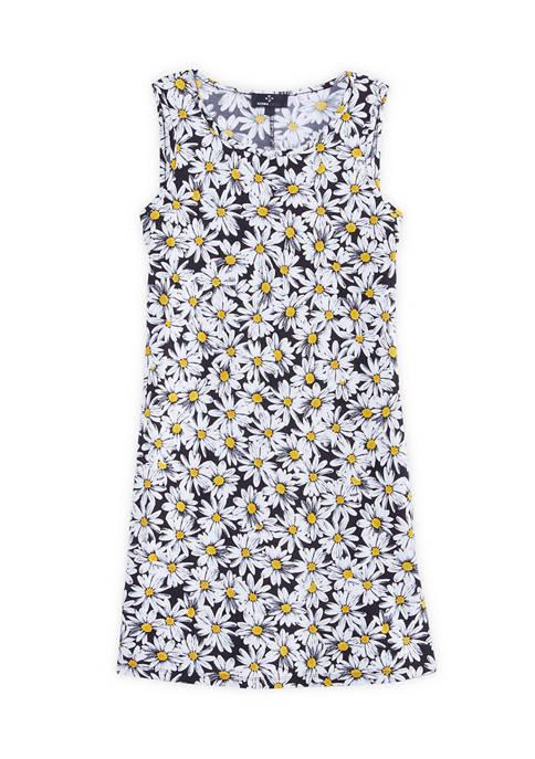 Womens Daisy Sleeveless Sheath Dress