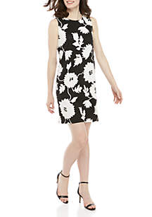 Ronni Nicole Sleeveless Puff Floral A Line Dress