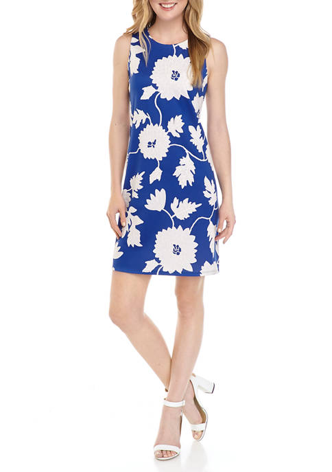Ronni Nicole Womens Puff Print Floral A-Line Dress
