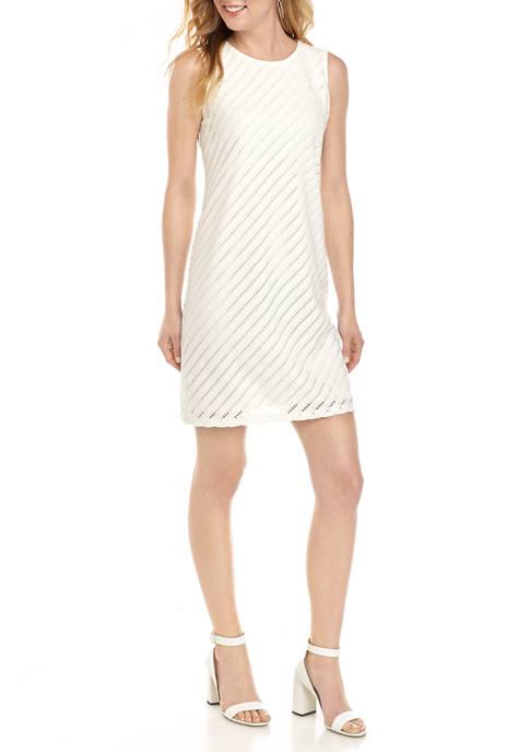 Ronni Nicole Womens Bias Lace A-Line Dress