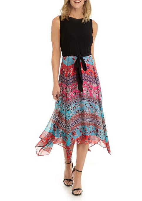 Womens Chiffon Paisley Dress