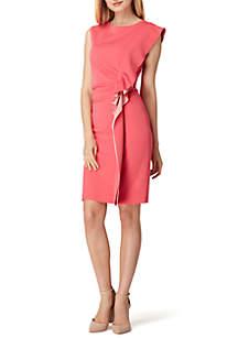 Extended Sleeve Asymmetrical Waist Flutter Dress