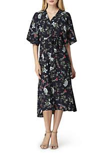 Floral Wrap Georgette Dress