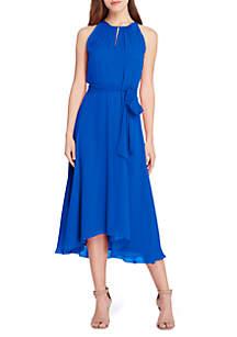 Sleeveless Chiffon Midi A-Line Dress
