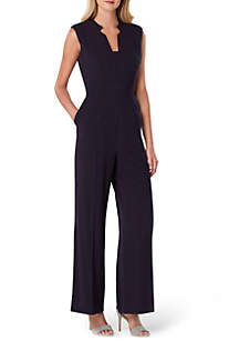 Sleeveless Pinstripe Jumpsuit