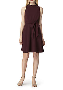 Sleeveless Fit-and-Flare Dress