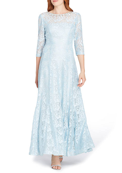 Tahari ASL Sequin Lace Gown