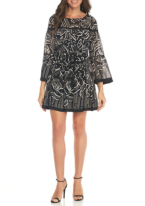 Laundry by Shelli Segal Printed A-Line Dress
